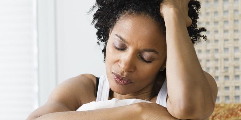 black woman stressed