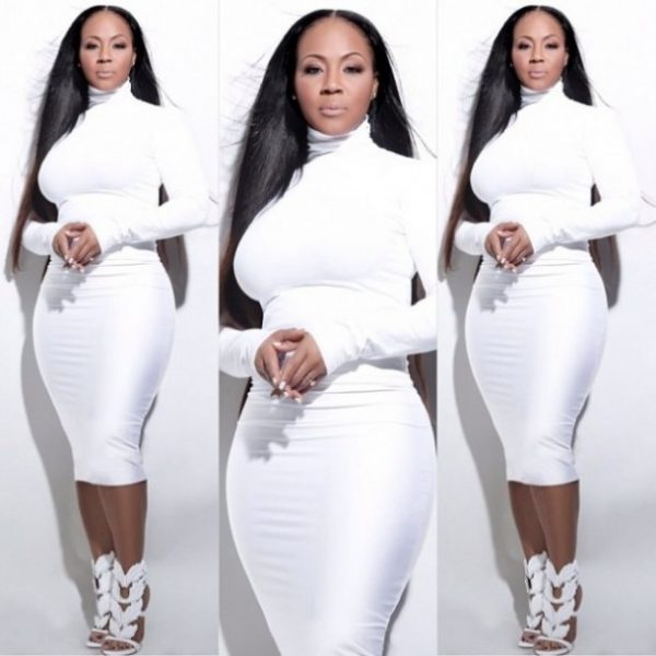 Erica-Campbell-White-Dress