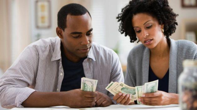 black couple money