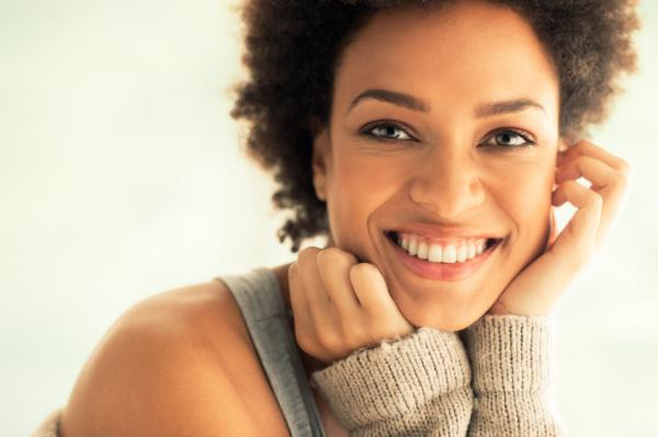 natural woman smiling