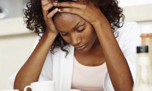 Black Woman grieving