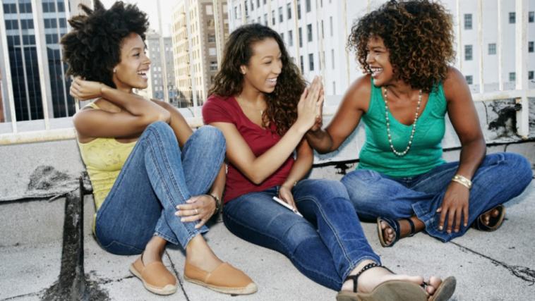 black women on rooftop