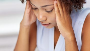 black woman stressed out