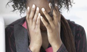 stressed black woman