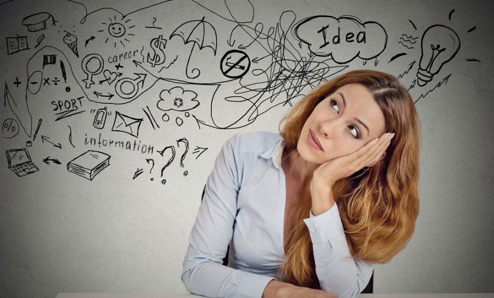 woman creating a vision board