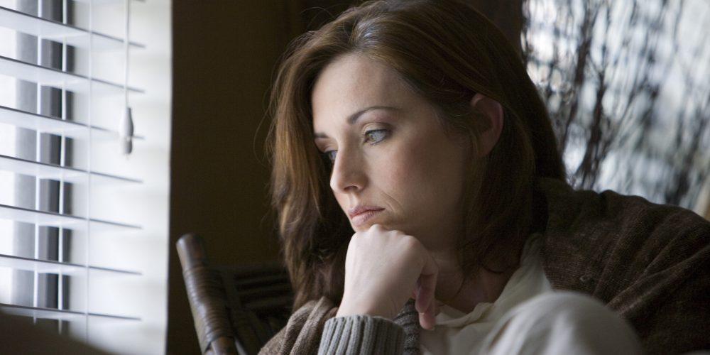 woman feeling empty and broken