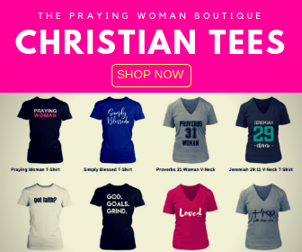 the praying woman boutique christian tees