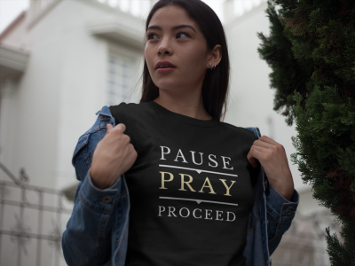 The Praying Woman-Pause Pray Proceed